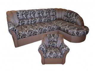 Alex ággyá alakítható, ágyneműtartós, hullámrugós sarokülőgarnitúra, fotellal