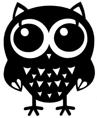 big eyes owl self adhesive vinyl decal