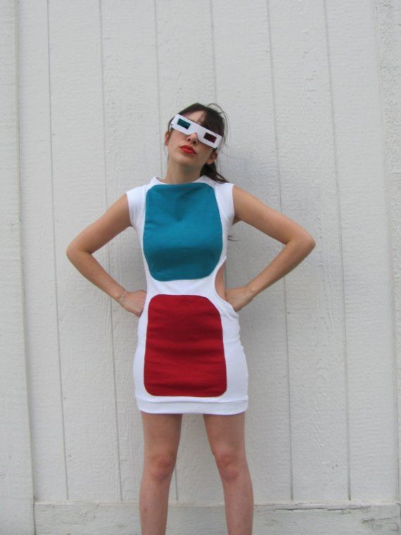 3D Glasses Dress this would be a cool Halloween costume