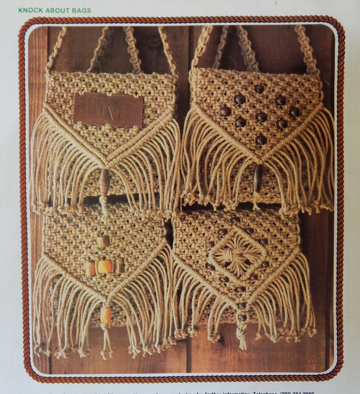 Juliano's Hang It All Book 2 Instructional Book with 81 Diagrams of Macrame Knots also Wall Hanging & Purse With Front Variations Patterns by RedWickerBasket on Etsy