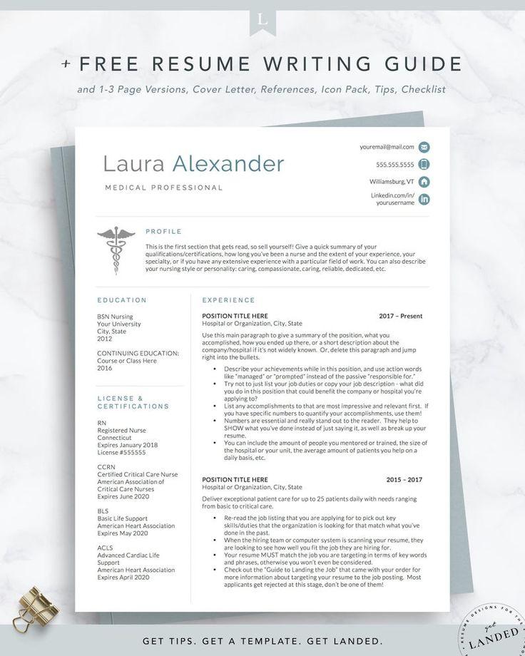 Nursing Resume Template for Medical Professionals, Nurse
