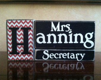 Personalized teacher gift principal gift desk by WoodnExpressions