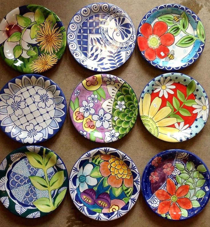 Damariscotta Pottery-small plates  handmade and painted in our shop- Facebook: Damariscotta Pottery