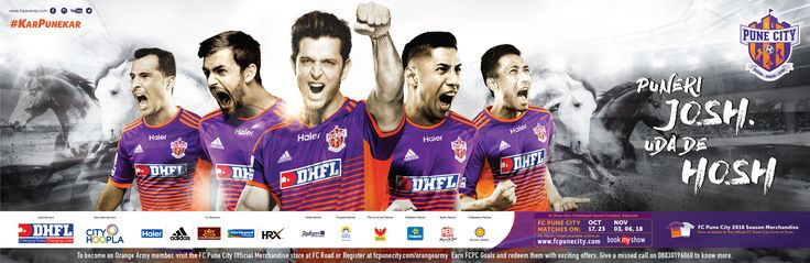 We created the new season campaign for FC Pune City, capturing the grit, determination and spirit of Pune & Punekars.