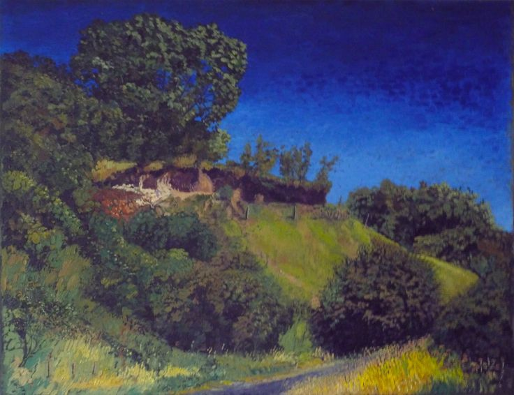 Red hill -Oil painting by Tom Wormell