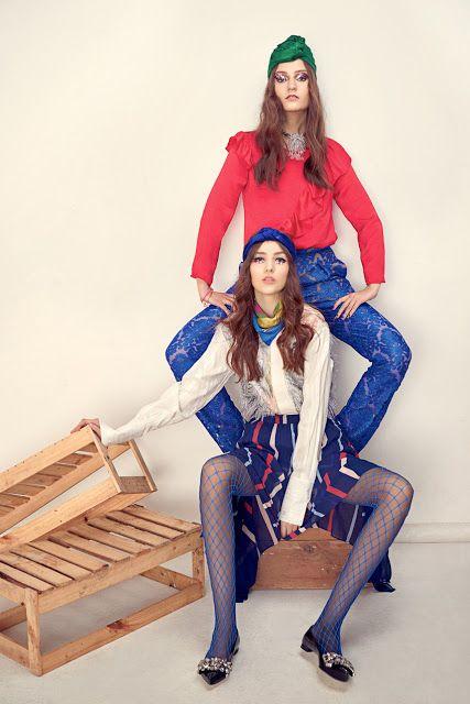 Alya Amor e Kriss Wynn - Elle Indonésia Março 2017