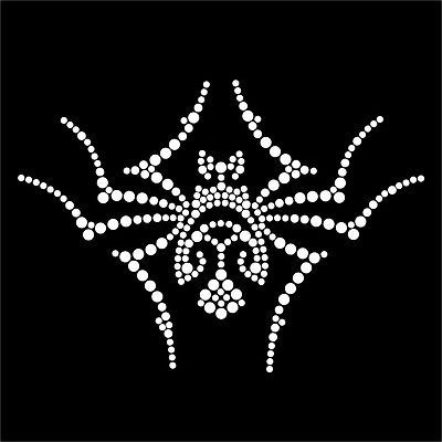HotFix Diamante Tribal Spiders Transfers iron on motif for t-shirts bags
