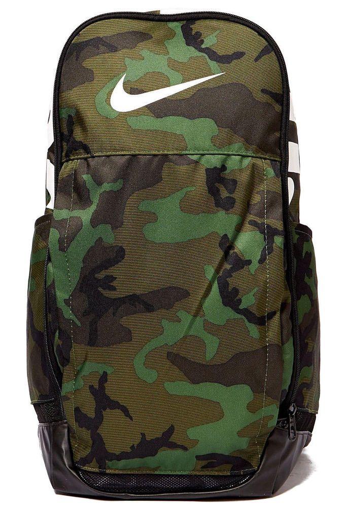 Nike 2018 Brasilia XL Backpack BA5482 333 Camo Green Gym Bag Laptop NEW   Nike  Backpack fb66dd2c1899
