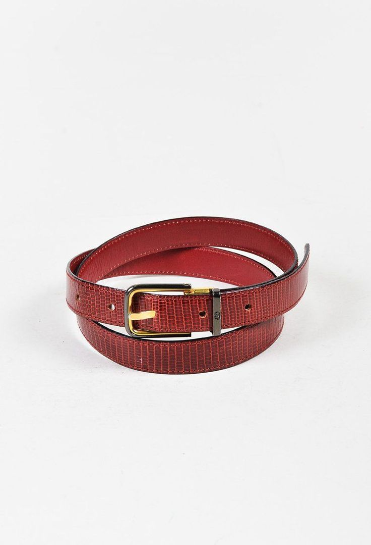 Gucci Red Genuine Lizard Waist Belt – Luxury Garage Sale