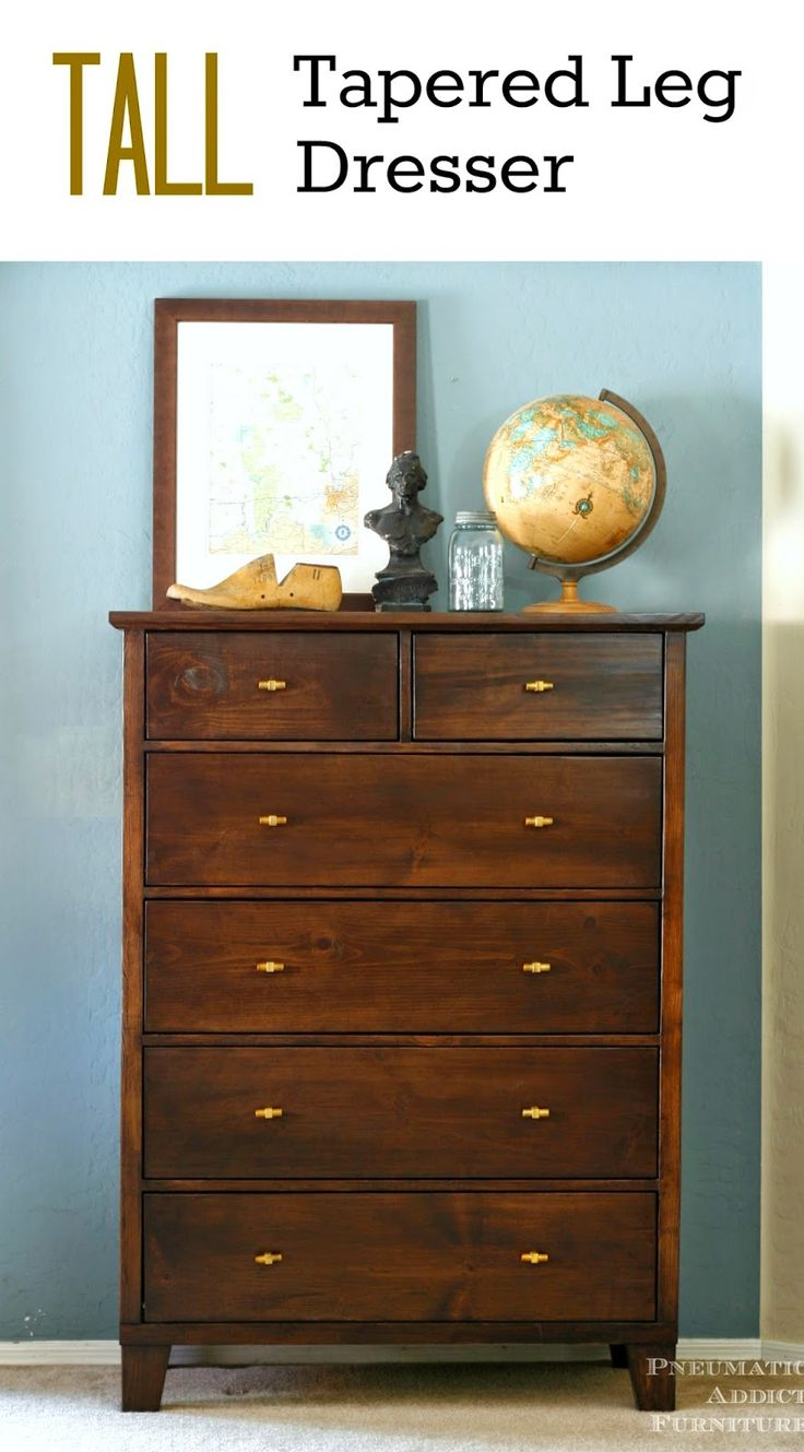 Make your own PB knock-off, tall dresser! Step by step tutorial with building plans.