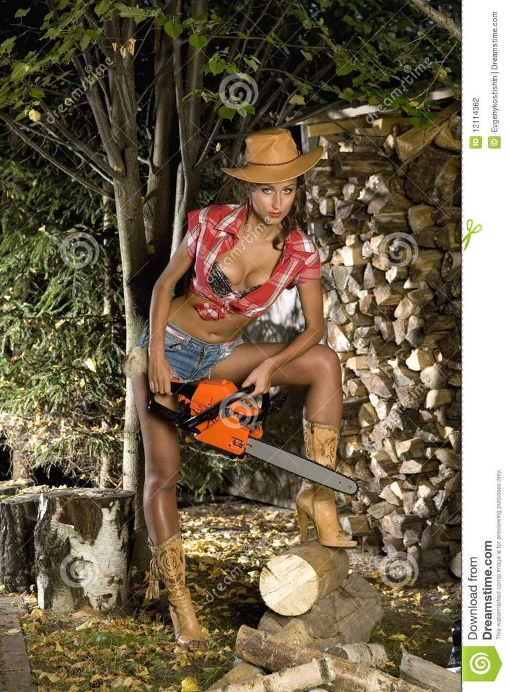 Girl with a chainsaw