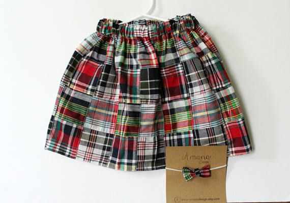 Celebrate Summer with this adorable plaid twirl skirt, perfect for picnics, days at the park, 4th of July and all the Summer fun! Made to order in sizes from newborn-5T with larger sizes upon request. #4thofulyoutfit #handmadewithlove