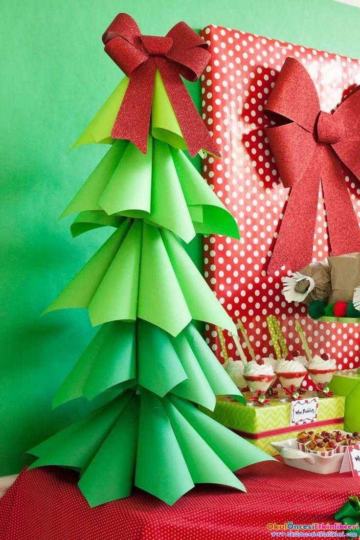 Origami ile yeni yıl ağaçları yapalım