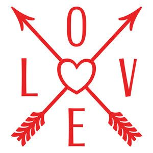 Download Love direction arrows | Heart with arrow, Silhouette ...