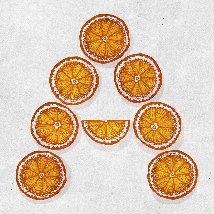 """«На букву А будут апельсины, потому что с витаминами)  Для конкурса @photo_azbuka от @sunday_woman и @verase_vvv Категория """"КАЛЛИГРАФИЯ"""", судья @oruga_san…»"""
