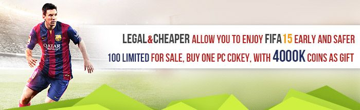 Buy FIFA 15 CD-KEY PC︱FIFA 15 CDKEY PC Sale- fifacoinsbuy.com - Fifacoinsbuy.com is one of the most trusted store for Fifa 15 CD KEY PC online. FIFA 15 Coins and CDKEY are available for the Xbox 360,IOS, PlayStation 3 and PC. Enjoy First-Class 24/7 Online Service today! #buy #pc #FIFA15 #CD #KEY