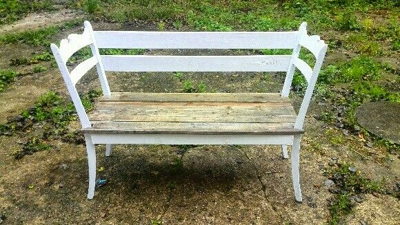 Made from to chairs, a bit of an old stable and floor moulding.