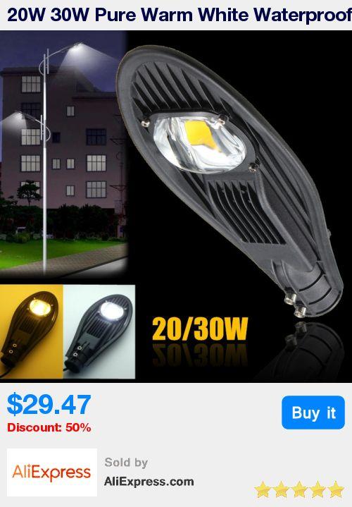 20W 30W Pure Warm White Waterproof IP65 LED Street Light Outdoor Lighting Flood Road Industrial Lamp Garden Yard Light DC12V * Pub Date: 23:23 Apr 3 2017