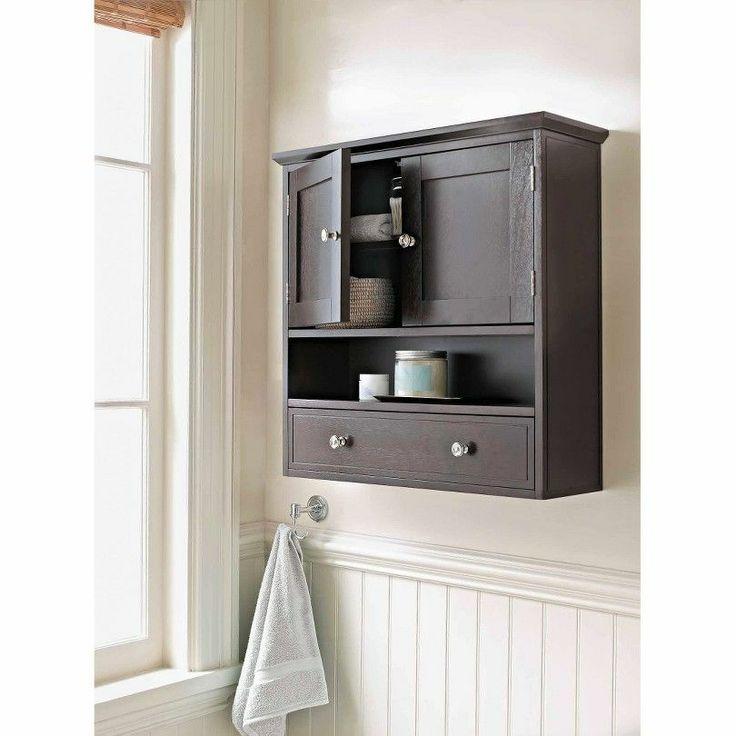 brown bathroom wall cabinet home furniture decor two door