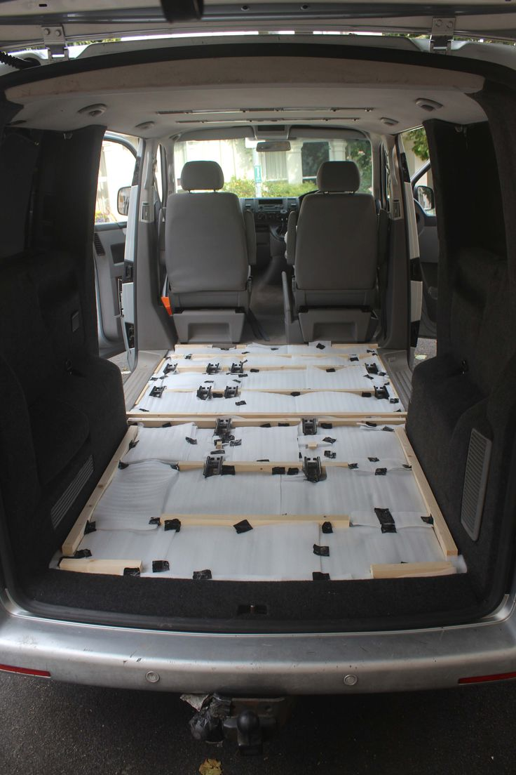 Vw T5 Rear Raised Floor And Insulated Vw Camper Van