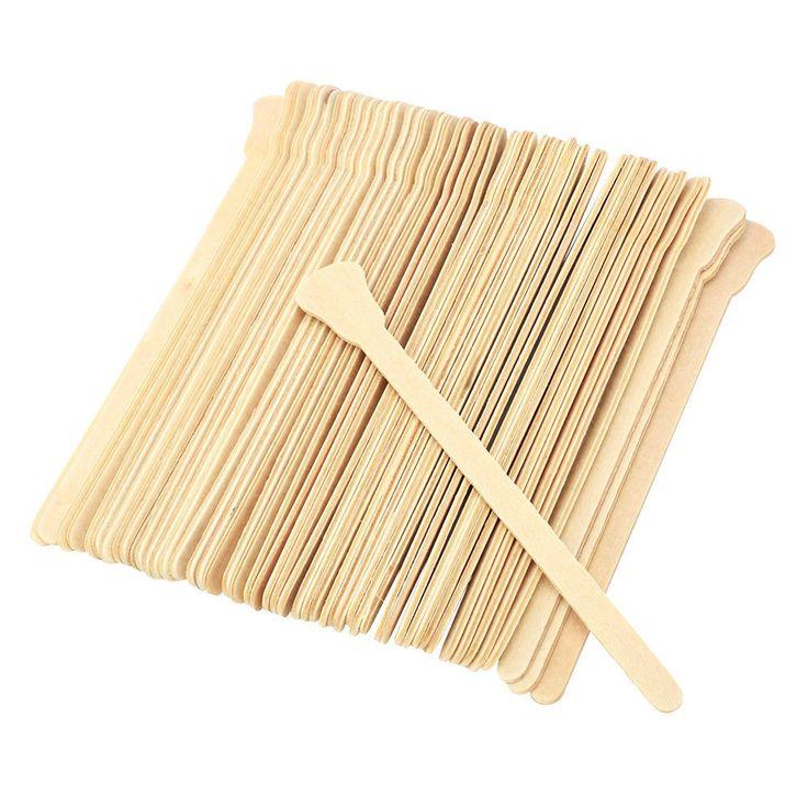 $ 2.69 – Hot Sale 50Pcs Wooden Depilation Wax Beans Stir Wax Stick Bamboo Stick Wax Stick