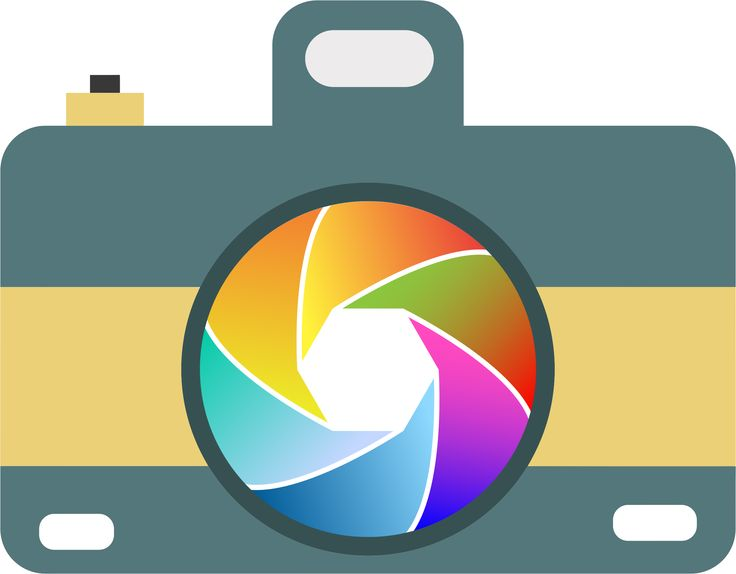 Camera Icon With Colorful Shutter by GDJ
