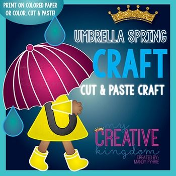 Use this Umbrella Spring Weather Craft (Glyph) as a great accompaniment to Math or Writing Studies. It would work well for summer, spring, weather, back to school or end of the school year thematic units. - My Creative Kingdom