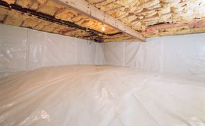 The CleanSpace® Crawl Space Vapor Barrier is the heart and soul of the CleanSpace® system. This durable, bright white crawl space liner installs on the walls and floors, preventing water vapor and humidity from passing through. By keeping your crawl space dry, you protect your structure and insulation from mold and rot.