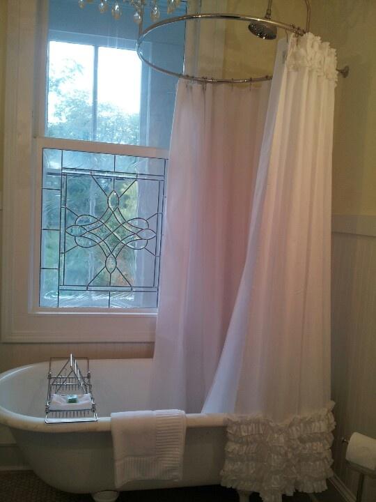 extra long clawfoot tub. Claw foot bathtub  love the extra long shower curtain not so much ruffles 14 best Foot Bathtub images on Pinterest Bathroom ideas