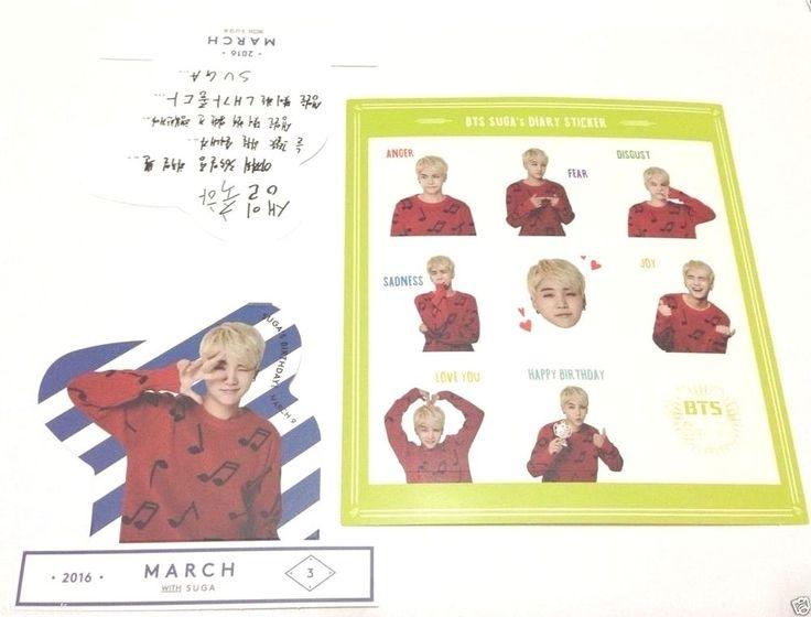 BTS 2016 Season's Greeting Suga 1 Sticker + 1 Pop-up Yoongi KPOP Bangtan Boys