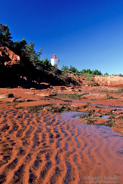 Cape Bear lighthouse on Prince Edward Island, Canada.