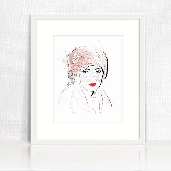 The Jacqueline - Fashion Haute Couture Fine Art Illustration Print, Wall Art Print, Poster Illustration, Art for Home, Office