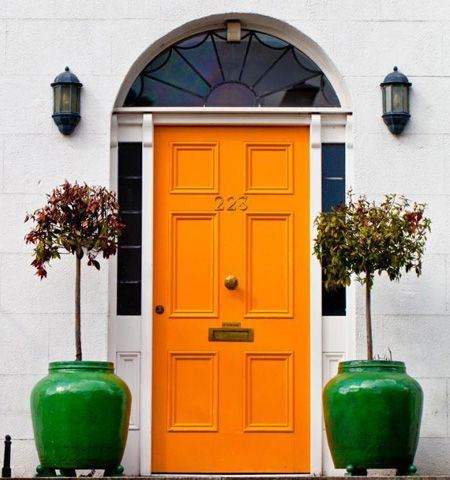 Hermès Orange Front Door | via The Velvet Fantastic Blog | House & Home