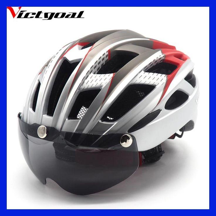 VICTGOAL Mountain Road Bike Helmet MTB Bicycle Helmet For Men Women Integrally Molded Windproof Cycling Helmet With Goggle VA101
