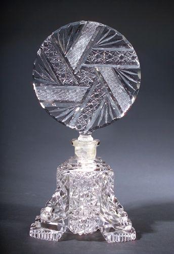 Czechoslovakian art deco perfume bottle, circa 1920s,