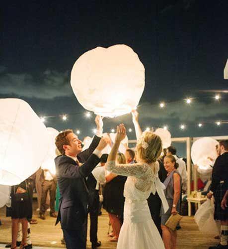 how to make floating lanterns wedding
