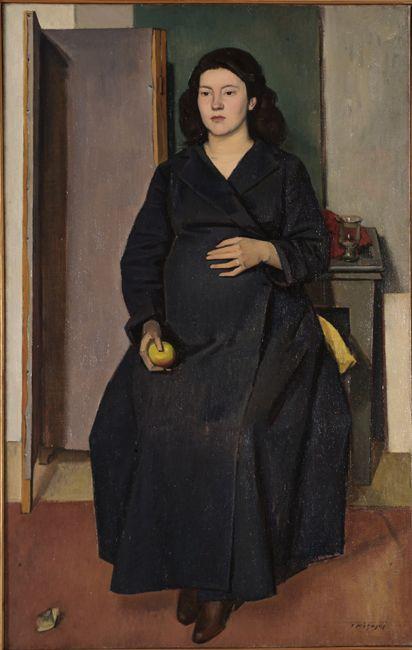 Moralis Giannis (1916-2009) Pregnant woman, 1948 Mόραλης Γιάννης (1916 - 2009) Έγκυος γυναίκα, 1948