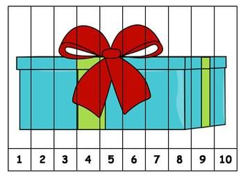 Here's a set of 6 different Christmas themed number order puzzles. Also includes snowmen and other winter-related themes.