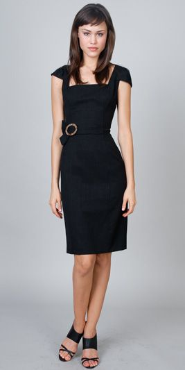 Cap Style Sleeves Square Straps Simple Keen Length Cocktail Dress