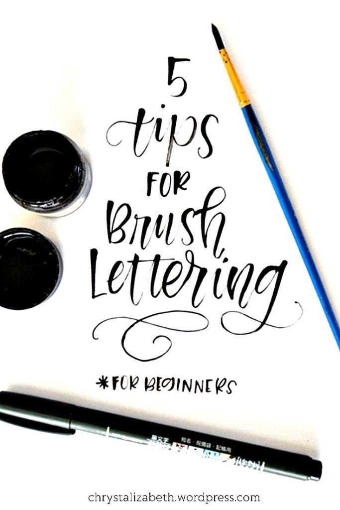 5 Tips for Brush Lettering (Beginner) | chrystalizabeth