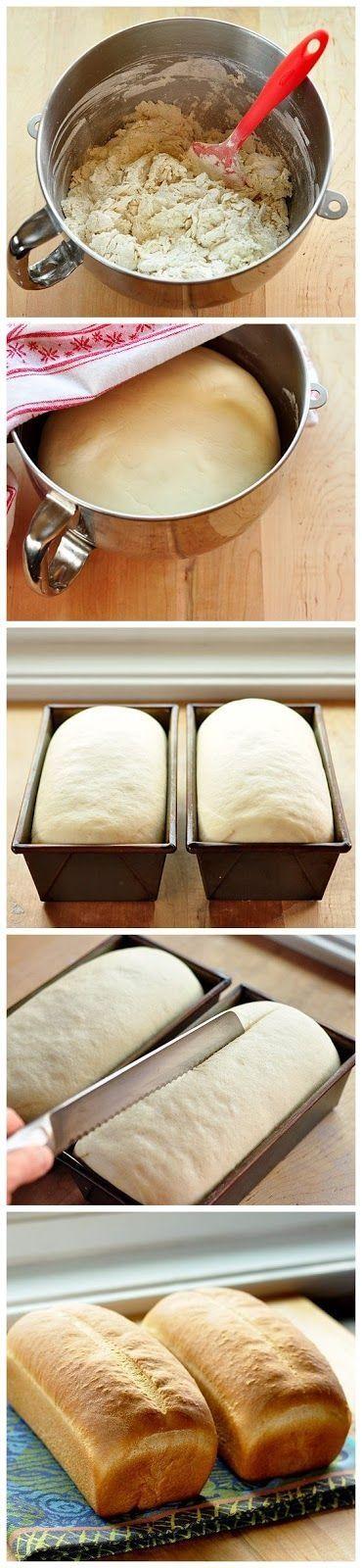 Como fazer pão branco básico para sanduíche. Fotografia: Alana em Indulgy.