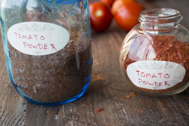 You'll never waste tomato skins again with this easy recipe to make tomato powder and tomato flakes. It's raining tomatoes! Don't I always say that during July and August? Well it's true. You won't believe how many pounds of tomatoes we grew this year and I'm not going to tell you... #tomato