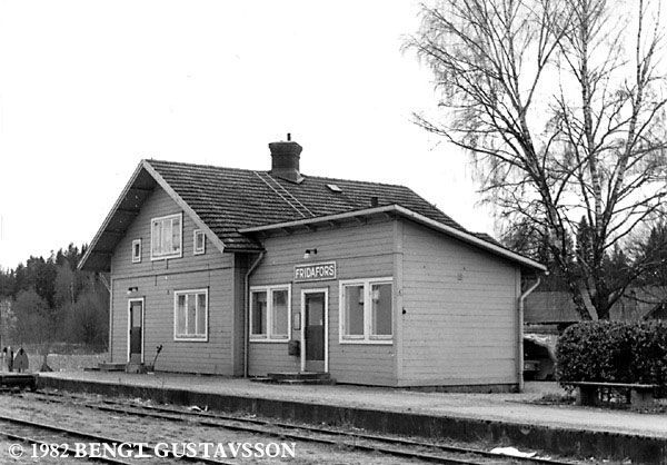 The old station i Fridafors when it was still in use.