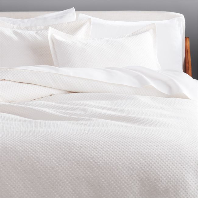 Dottie Full Queen Neutral Matelasse Duvet Cover In 2020 Bed