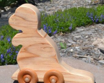 Fastback Redwood Toy Wood Car by WoodenGiraffeToys on Etsy