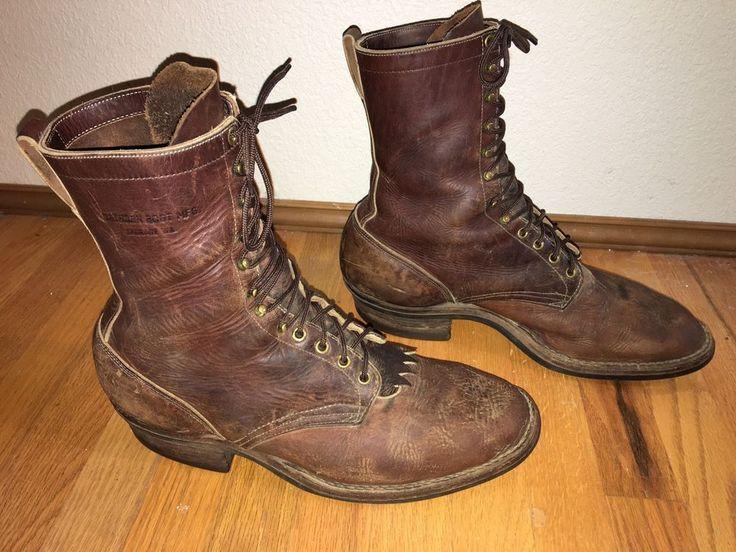 Vintage Hathorn U S A Brown Leather Packer Logger Work