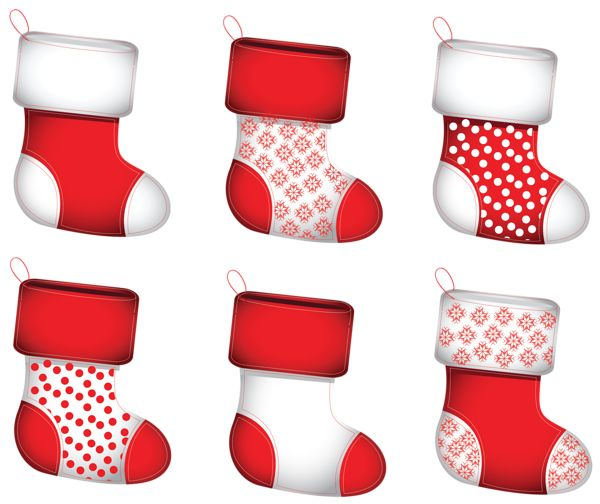 Transparent Christmas Stokings Collection PNG Clipart