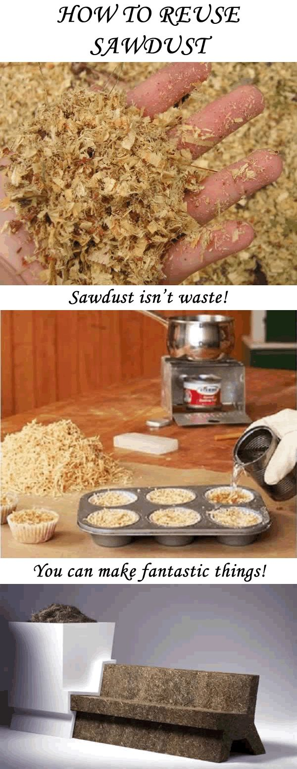 Don't throw away your sawdust! Sawdust has many useful applications! Check them out in the article!