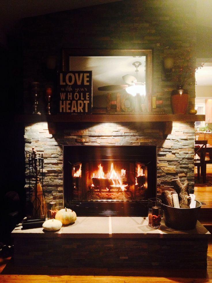 Stone fireplace!  :-)