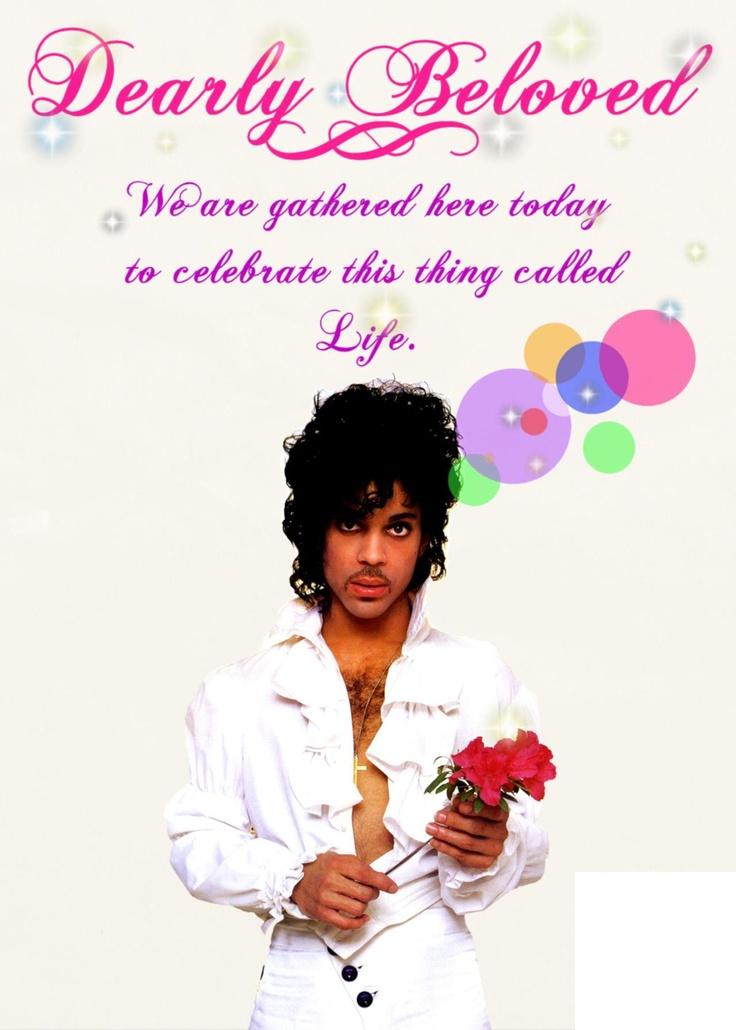 "Dearly beloved - Prince ""Let's Go Crazy"" lyrics"